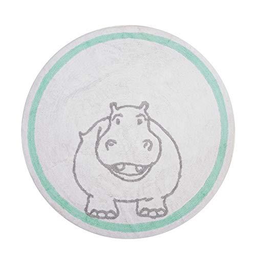 aratextil tapis enfant 100% coton LAVABLE en machine Collection Hippopotame 140 cms Jour