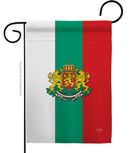 Breeze Decor HG108204 - Banderas de Bulgaria de la Nacionalidad Mundial Impresiones Decorativas Vertical Casa 28' x 40' Jardín 13' 18.5' Bandera de Doble Cara Collection