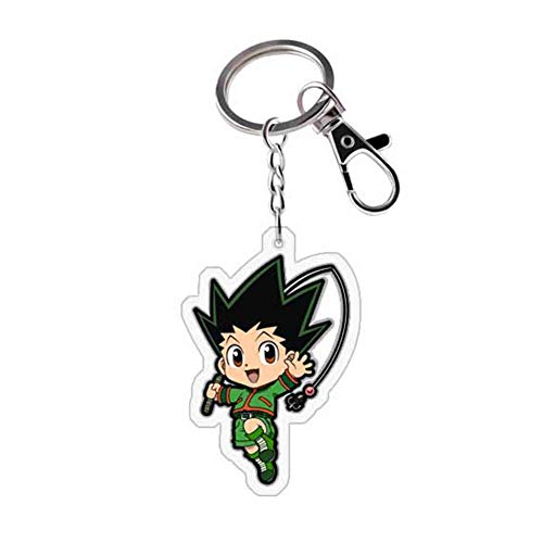Iwinna Anime Hunter X Hunter Metal Acrylic Keychain, Cute Keyring for Anime Fans(Multicolor(style04))