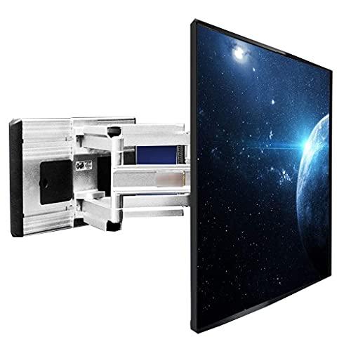 FACAZ Estante Giratorio telescópico con Brazo articulado para Montaje en Pared para TV Estante de exhibición Universal para TV de 42-80 Pulgadas (Color: Negro, Tamaño: 55,8 cm)