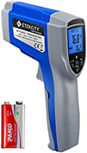 Etekcity Lasergrip 1022 Infrared Thermometer Temperature Gun Non-contact-58 (50℃ ~ 550℃) with Adjustable Emissivity & Max Measure for Meat Refrigerator Pool Oven, Standard Size, Blue (Not for Human)