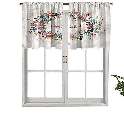 Hiiiman Guirnaldas opacas de alta calidad con bolsillo para barra, juego de 2, paneles opacos decorativos para el hogar de 106,7 x 60,9 cm