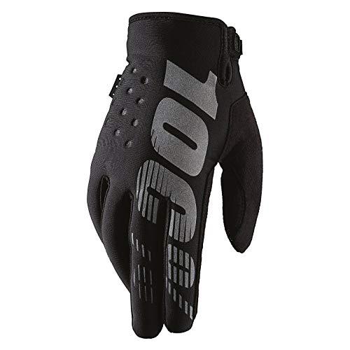 Unbekannt 100% Prozent Brisker Handschuhe Soft Shell MTB DH MX Motocross Enduro Offroad Quad, HU-GLO-0007, Farbe Schwarz, Größe S