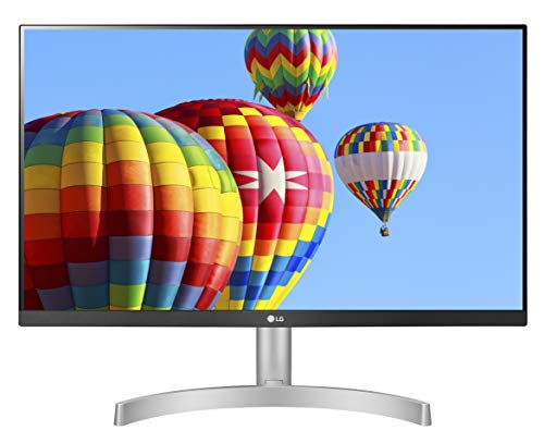 LG 24ML600S Monitor 24' FULLL HD LED IPS, 1920x1080, 1ms MBR, AMD FreeSync 75Hz, Audio Stereo 10W, HDMI (HDCP 1.4), VGA, Uscita Audio, Flicker Safe, Bianco