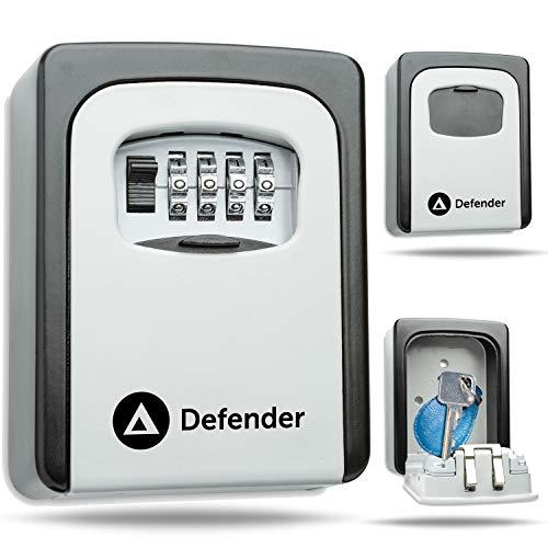 Defender Schlüsseltresor zur Wandmontage – Kombinationsschlüsselsafe für den Außenbereich – Schlüsselkasten mit Wandbefestigung – Schlüsselsafe zur Wandmontage – Schlüsselschrank Schlüsselsafe (grau)