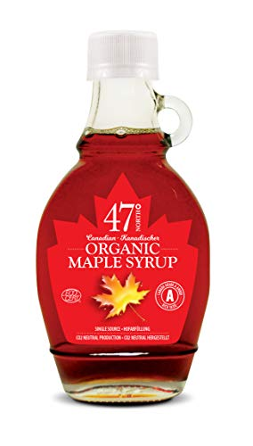 47 North Canadian Organic Maple Syrup, Single Source, Grade A, Amber Rich...