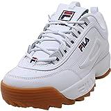 Fila - Zapatillas Disruptor para hombre, Blanco (Blanco/azul marino/goma de mascar), 43 EU