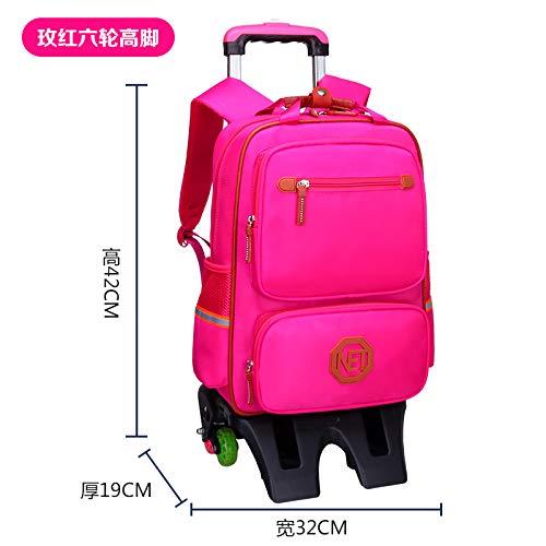 Trolley Bag Kinder Trolley Bag sechs Runden Treppensteigen Mädchen Trolley Umhängetasche
