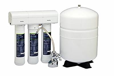 EcoPure Premium 3-Stage Reverse Osmosis Undersink Drinking Water Filter System