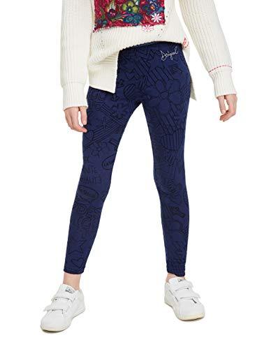 Desigual Mädchen ARISTOTELES Leggings, Blau (Navy 5000), 152 (Herstellergröße: XL)
