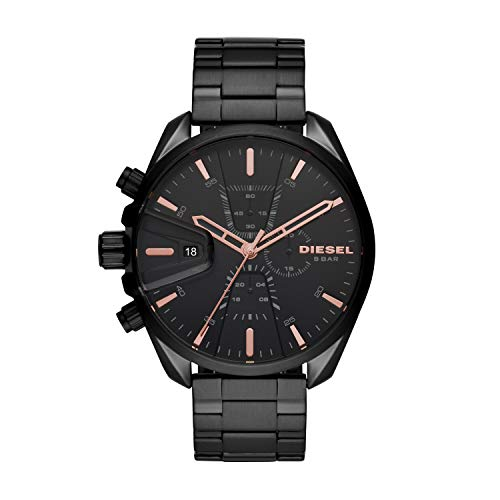 Diesel Herren Chronograph Quarz Uhr mit Edelstahl Armband DZ4524