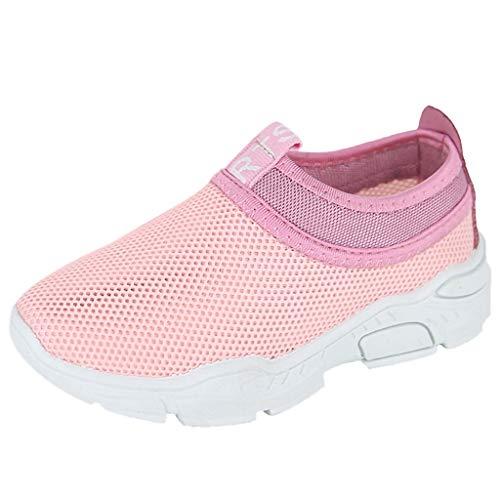 Oyedens Kinder Jungen Mädchen Outdoor Fitnessschuhe Atmungsaktive Mesh Schuhe Farblich Passende Turnschuhe Mesh-Schuhe Laufschuhe Trekkingschuhe Kinder Sport 4-12 Alter