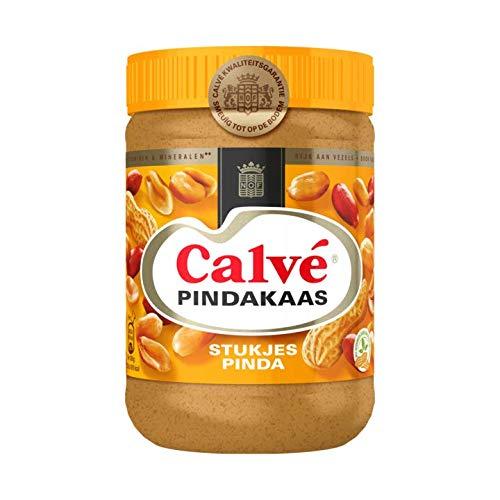 Calvé - Erdnussbutter mit Nussstücken - 650g - Packung à 3 Stück