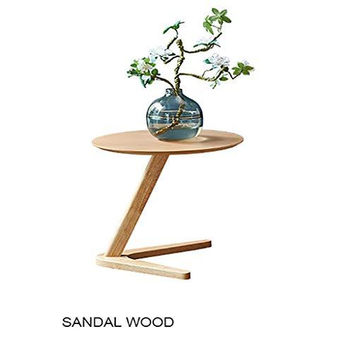 Draagbare houten koffietafel, multifunctioneel kantoor hotel slaapkamer woonkamer ronde tafel persoonlijkheid nacht corner bijzettafel