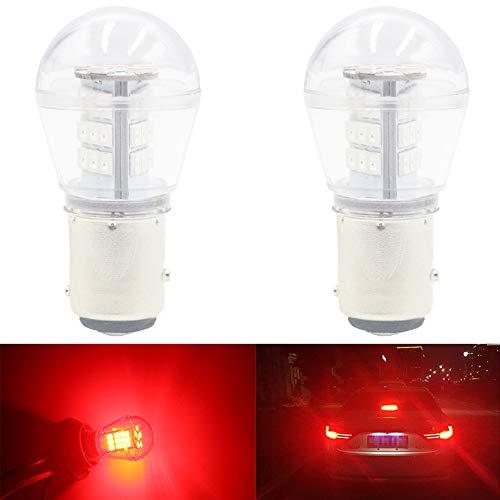 AMAZENAR Paquete de 2 1157 BAY15D 1016 1034 7528 2057 2357 Luz LED Roja Extremadamente Brillante 9-30V-DC, 2835 33 SMD Bombillas de Repuesto para Lámparas de luz de Freno de Cola