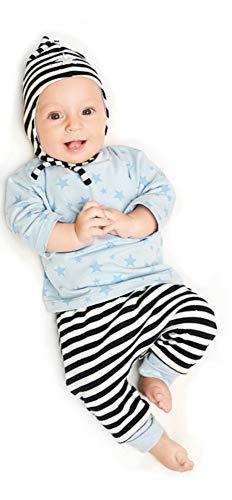 MAGAM-Stoffe Schnittmuster Baby Set mit Mütze für Neugeborene und Babys inkl. Aufnäher Enno