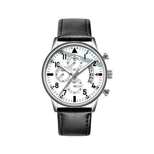 Uhren,Armband Uhr Herrenuhren Echtes Chronograph Klassisch Mode Multi Zifferblatt Datumsanzeige Wasserdicht Analoge Quarz Männer Uhr Mit Armband
