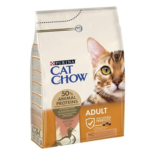CAT CHOW Croquettes avec Naturiumtm Riche en Canard pour Chat Adulte 3 kg