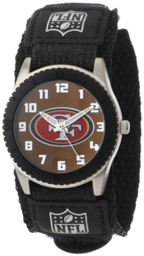 Game Time Men's 'Rookie' Quartz Metal and Nylon Casual Watch, Color:Black (Model: NFL-ROB-SF)