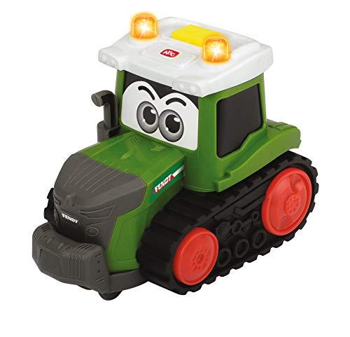 Dickie Toys 203812005 Happy Fendt Team, Spielauto für Kinder, 3 verschiedene Modelle: Traktor, Raupenfahrzeug oder Mähdrescher, Lieferung: 1 Stück, Bauernhof, Licht & Sound, für Kinder ab 1 Jahr, 16 cm