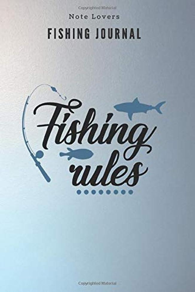 特徴累積検査Fishing rules - Fishing Journal: Fishing Log Book | Perfect Gift For Gift for Fishing Lover