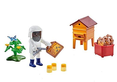 PLAYMOBIL 6573 Beekeeper with Hive, Multicolor