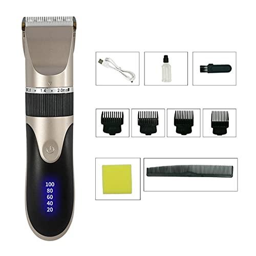 Cortadora de pelo digital USB recargable Clipper para hombres corte de pelo de cerámica cuchilla de afeitar cortador de pelo máquina de peluquería