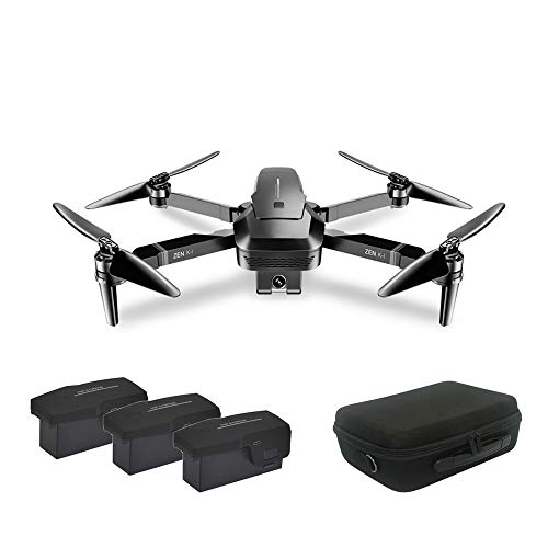 MeterMall VISUO ZEN K1 Brush-less Dual Camera Optical Flow HD Zoom 4K Drone Folding Aerial Camera Quadcopter with Storage Bag 3 battery
