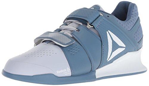Reebok Women's Legacylifter Cross Trainer, Cloud Grey/Blue Slate/White, 9.5 M US