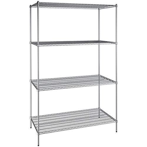 30 inch x 60 inch Chrome Wire 4 Shelf Kit with 96 inch Posts. Storage Shelf. Garage Storage Shelves. Shelving Units and Storage. Food Storage Shelf. Storage Rack. Bakers Racks