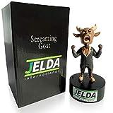 JELDA's Screaming Goat Desk Toy - Mini Figurine with Multiple Funny Sounds and Adjustable Volume | Office Stress Relief | White Elephant Novelty Gag Gift - Secret Santa | Desk Accessory