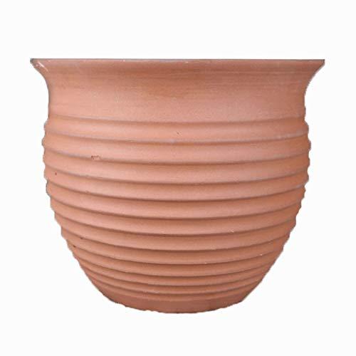 LHY- Bloempot Extra grote ongeglazuurde keramische bloempot terracotta Ademende aardewerk Steengoed kleipotten Prachtig (Color : B)