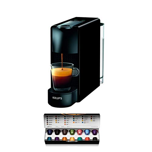 Krups Nespresso XN1108 Essenza mini-koffiecupmachine, 1260 watt, zwart, 0,6 liter