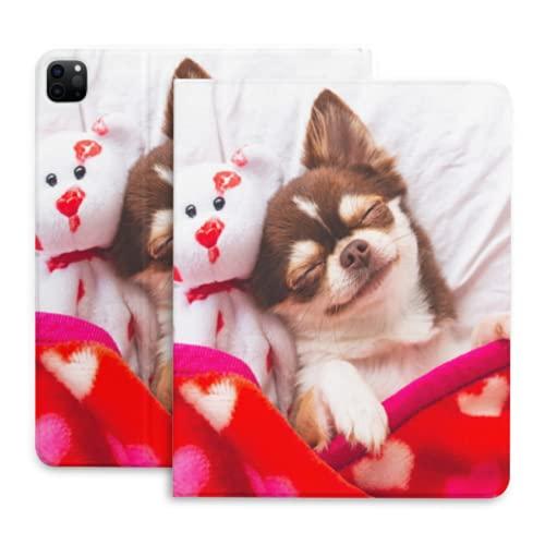 Lindo Chihuahua perro animal Tablet caso para Ipad pro cubierta para niñas con lápiz titular compatible con iPad 2020 pro 11 12.9 pulgadas