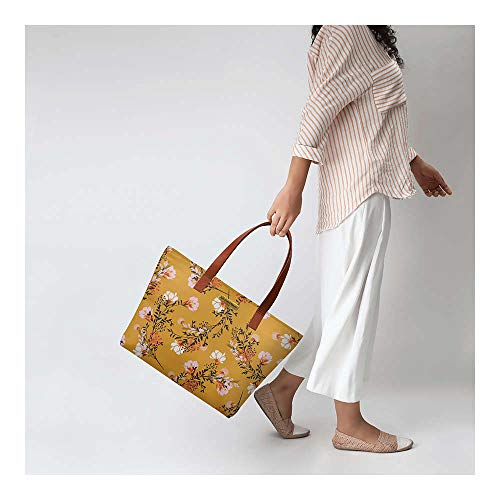 DailyObjects Women's Tote Bag   Spacious, Stylish, Sturdy Handbag with Zip closure (Multicolor)
