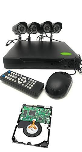 TEMPO DI SALDI Kit Videosorveglianza Dvr 4 Canali + 4 Telecamere Infrarossi + Hard Disk 500 Gb
