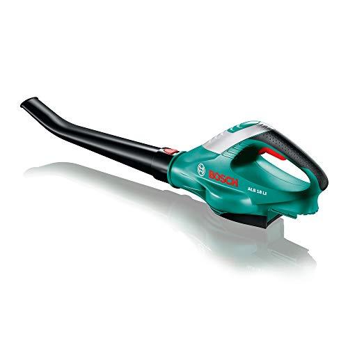 Bosch Home and Garden 06008A0302 ALB 18 LI 2,5 Ah Soplador suministra Cargador, Negro/Verde, 18 V (sin batería)