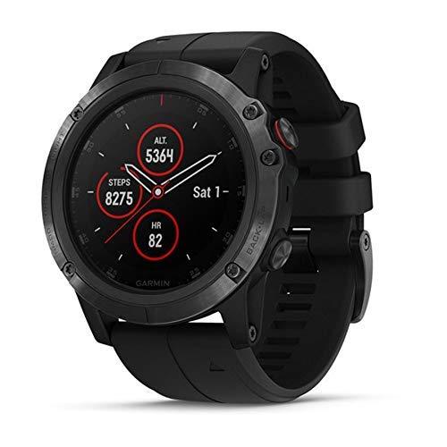 Garmin Fenix 5X Plus Sapphire Multisport GPS Watch with Pulse Ox Acclimation Black with Black Band Renewed