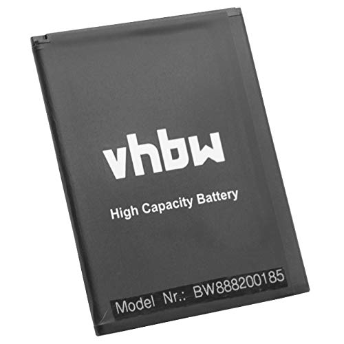 vhbw Akku Ersatz für Wiko 3913 für Handy Smartphone Handy (2500mAh, 3,8V, Li-Ion)