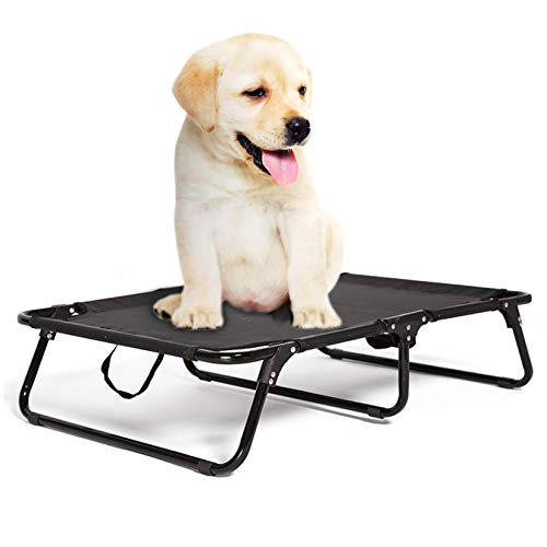 HXSD Cama elevada portátil para Cuna para Mascotas, cunas para Mascotas Plegables para Perros y Gatos, no Requiere ensamblaje, Uso en Interiores y Exteriores,M