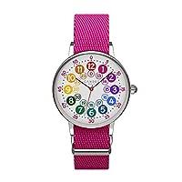 Le diamètre de la montre est d'environ 30 mm. Mouvement Seiko japonais de haute qualité avec batterie. La montre est protégée contre les projections d'eau, mais ne convient pas pour une immersion totale dans l'eau. Bracelet amovible en textile respir...