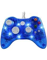 WeJoy Mando Cable con DualShock y 7 LED para Xbox 360/PC/Windows XP/7/8/8.1/10/Vista