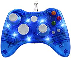 Mando Con Cable Afterglow para Xbox 360, WeJoy Mando con DualShock y 7 LED para Xbox 360/PC/Windows XP/7/8/8.1/10/Vista
