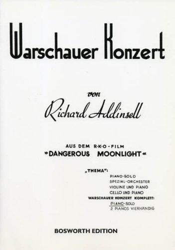Klavier Notenschule: Warschauer Konzert. Thema für Piano solo