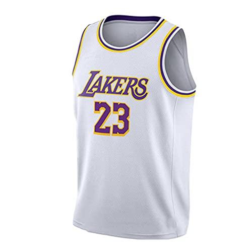 Maglia Basket, NBA T-Shirt Uomo in Jersey Lakers N. 23, Maglia A Maniche Corte per Ragazzi Traspirante E Confortevole