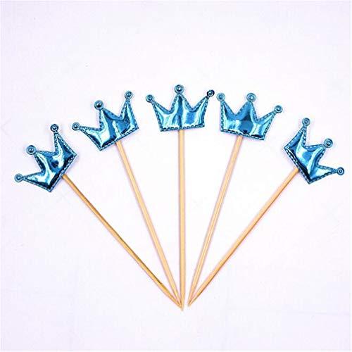 Kemxing 5 Stück Crown Cupcake Toppers Mädchen Cake Toppers Dekoration für Jungen Geburtstagsfeier Babyparty Hochzeit Weihnachten Kindertag