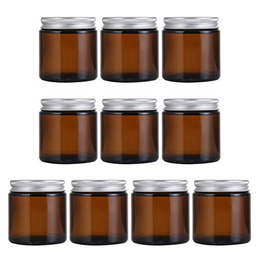Artibetter 10 Pcs Bocaux en Verre Ronds avec Couvercles Bougie Pot de Bougie en Verre Vides Conteneurs Cosmétiques Pots de Crème pour La Fabrication de Bougies Faveurs de Douche de Miel