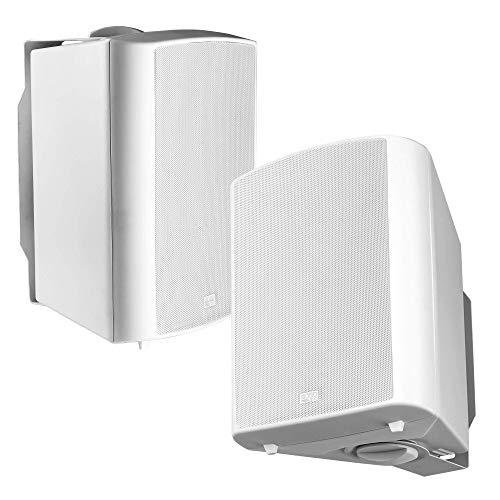 "OSD Audio 70V Commercial 6.5"" Patio Speaker Indoor Outdoor Pair White AP640T"