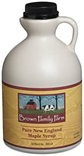 Brown Family Farm Pure New England Maple Syrup, 32-Ounce Jug (B0019N37HK)   Amazon price tracker / tracking, Amazon price history charts, Amazon price watches, Amazon price drop alerts