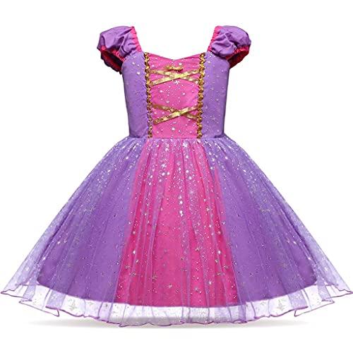 Dressy Daisy Toddler Girls Princess Dresses Halloween Fancy Dress Up Costumes Size 2T Purple 205